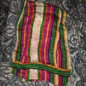 Vintage Liz Claiborne Multicolor Scarf